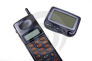Wireless Pager And Cell-phone . Stock Image - Image: 8224531
