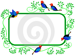 Framework With Birds Stock Photography - Image: 8224582