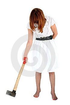 Woman With Axe Stock Photos - Image: 8225673