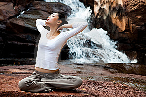 Outdoor Young Woman Relaxing Stock Photography - Image: 8225682