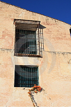 Barred Windows ( Spain ) Royalty Free Stock Image - Image: 8226386