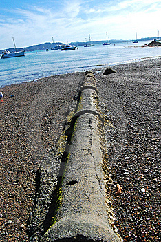 Sewer Pipe At Beach Royalty Free Stock Photography - Image: 8226487