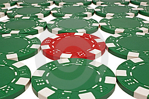 Poker Chips Isolated On White Stock Photo - Image: 8226520