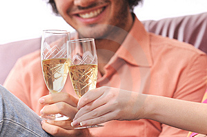 Couple And Drink Royalty Free Stock Image - Image: 8227096