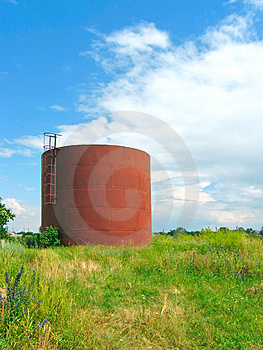 Iron Cistern Stock Photo - Image: 8227400