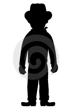 Silhouette Of Kid Cowboy Stock Photos - Image: 8227833
