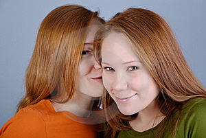 Portrait Of Two Young Woman Stock Image - Image: 8229381