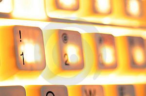 Lighting Keyboard Stock Photos - Image: 8229443