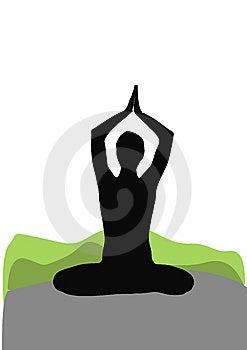 Seated Yoga Pose Royalty Free Stock Photography - Image: 8229577