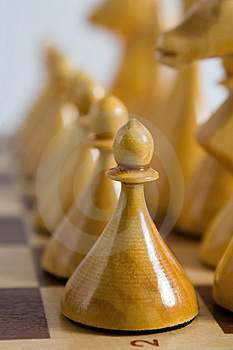 Pawn In Row Stock Images - Image: 8229804