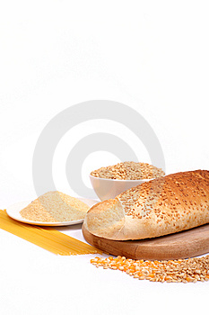 Fresh Bread And Wheat Stock Image - Image: 8230471