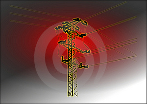 Mast High Voltage Royalty Free Stock Photo - Image: 8230585