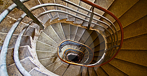 Old Spiral Staircase With Marble Steps Stock Photography - Image: 8233712
