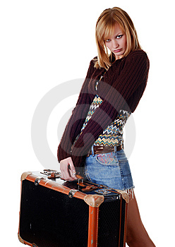 Woman With Travelling Bag Royalty Free Stock Photography - Image: 8234987