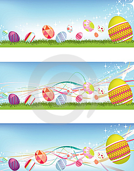 Easter Egg Banners Stock Photography - Image: 8235272