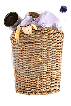 Wastepaper Bin Royalty Free Stock Photo - Image: 8235315