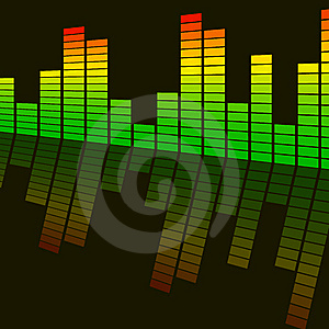 Abstract Background Digital Equalizer Stock Images - Image: 8235504