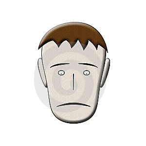 Sad Face Man Royalty Free Stock Photography - Image: 8235767