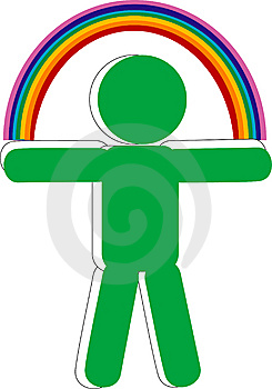 Persons With Rainbow Stock Photo - Image: 8237640