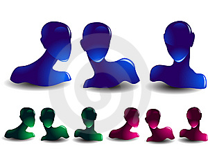 Human Heads Royalty Free Stock Image - Image: 8237976