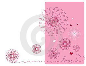 Geometric Flowers Royalty Free Stock Images - Image: 8238119