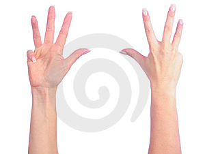 Female Hands Counting Stock Photography - Image: 8238872