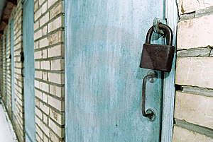 Locked Doors Stock Photo - Image: 8239120