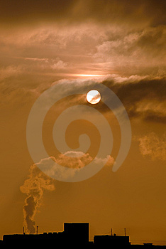 Sun And Smoke Stock Image - Image: 8240081
