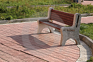 Garden Bench Royalty Free Stock Image - Image: 8240446