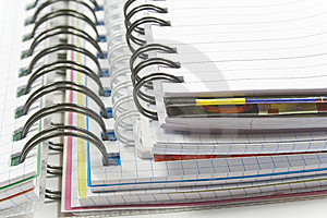 Three Spirals Notebook Stock Photography - Image: 8240492