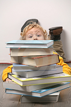 Boy With Books. Stock Photos - Image: 8240543