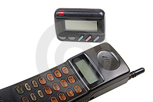 Wireless Pager And Cell-phone . Stock Photos - Image: 8241253