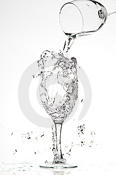 Glasses With Water Royalty Free Stock Photography - Image: 8243097