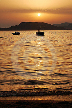 Sunset In Montenegro Royalty Free Stock Images - Image: 8244079