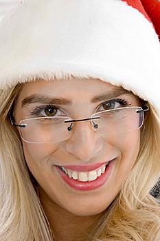 Close Up Of Smiling Female Wearing Spectacles Stock Photo - Image: 8244120