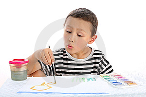 Boy With Paint Royalty Free Stock Photography - Image: 8244937