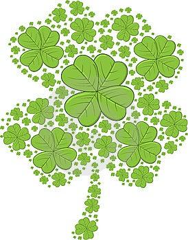 St. Patrick's Day Shamrocks - Vector Illustration Royalty Free Stock Photos - Image: 8244998