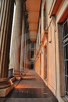 Pillars Of Historic Building Stock Photos - Image: 8245103