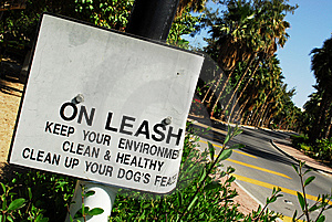 Dog On Leash Sign Stock Photography - Image: 8248292