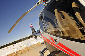 Modern Helicopter Stock Image - Image: 8248821