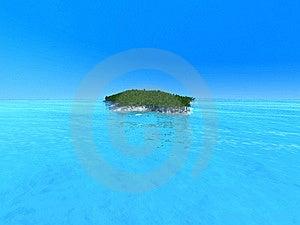 Lonley Island In Ocean Stock Image - Image: 8249921