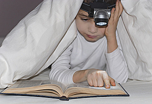 Boy reads the book Royalty Free Stock Images