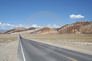 Road Through Death Valley Stock Photos - Image: 8252763