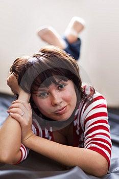 беспечальная девушка Стоковое Изображение - изображение: 8252931