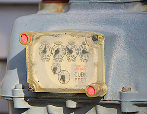 Gas Meter Royalty Free Stock Image - Image: 8253316
