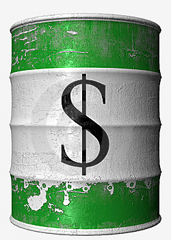 Money Oil Barrel Stock Photo - Image: 8253500