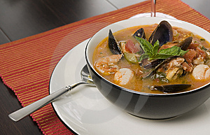 Bowl Of Seafood Soup Royalty Free Stock Photography - Image: 8254467
