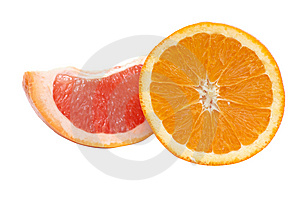 Segments Of Orange And Grapefruit. Stock Photo - Image: 8254490