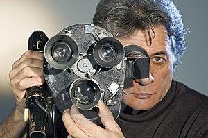 Cameraman  And Camera. Royalty Free Stock Images - Image: 8254869