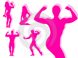 Body Builder Silhouette Stock Images - Image: 8254894